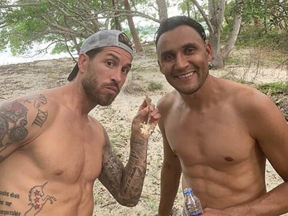 Fotos: Sergio Ramos y Keylor Navas. instagram: Sergio Ramos