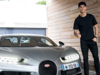 Foto: Cristiano Ronaldo y su Bugatti / Instagram Oficial