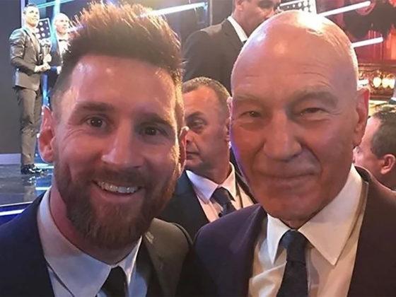Foto: Patrick Stewart y Lionel Messi / Patrick Stewart Twitter Oficial