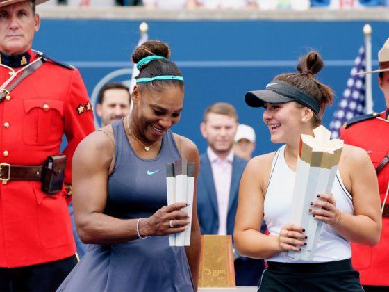 Foto: Serena Williams y Bianca Andreescu / Bianca Andreescu Twitter Oficial