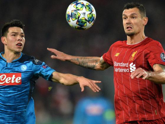 Foto: Hirving Chucky Lozano, de Napoli vs Liverpool / EFE