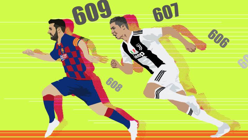 Ilustración: Messi vs Ronaldo / Fernando Pinilla
