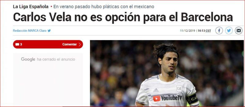 El Diario Marca desmiente las palabras de Jonathan dos Santos. Foto: Captura de pantalla.