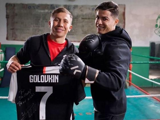 Foto: Cristiano Ronaldo y Gennady Golovkin