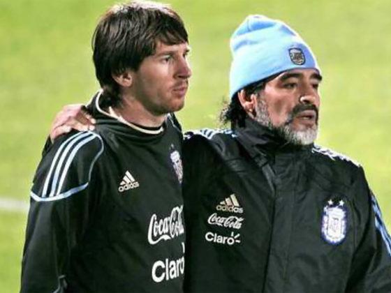 Foto: Diego Maradona y Lionel Messi /EFE