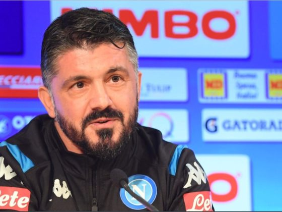 Gennaro Gatusso, DT del Napoli. Foto: Twitter.