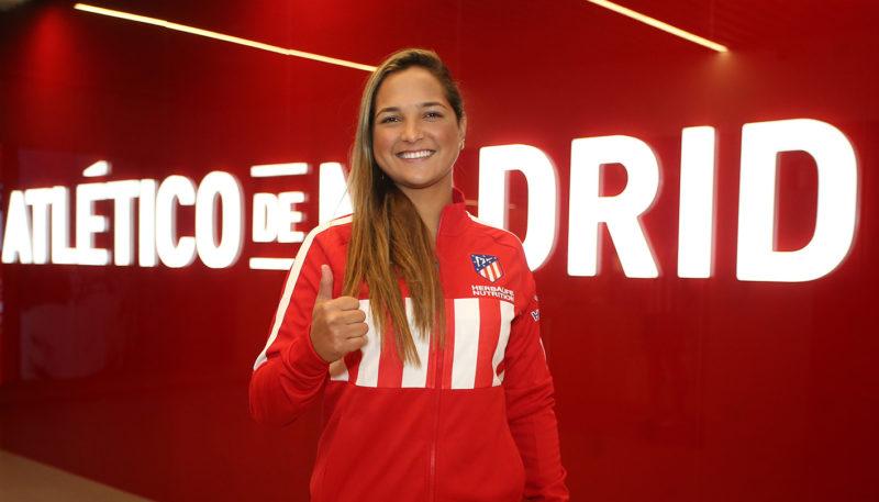Deyna Castellanos firmó con el Atlético de Madrid. Foto: Twitter.