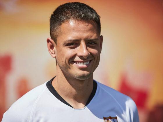 """Foto: Javier """"Chicharito"""" Hernandez, del Sevilla / Facebook Oficial"""
