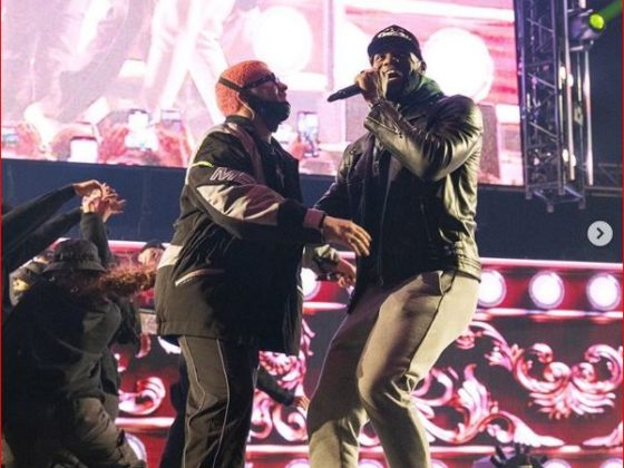 LeBron James en el concierto de Bad Bunny. Foto: Instagram.