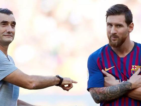 Foto: Messi y Valverde. EFE