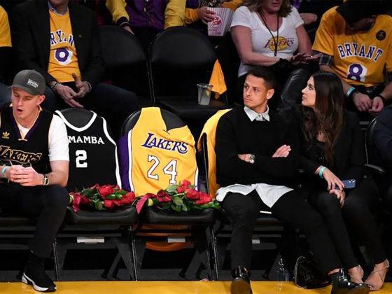 Foto: Chicharito Hernández en homenaje a Kobe Bryant / Foto: NBA México