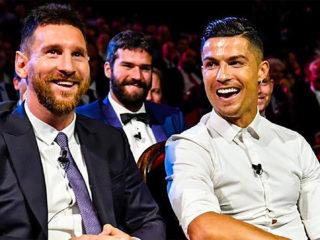 Foto: Cristiano Ronaldo y Lionel Messi / Twitter Oficial
