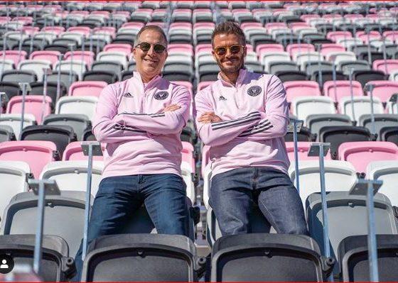 David Beckham y Jorge Mas del Inter de Miami. Foto: Instagram.