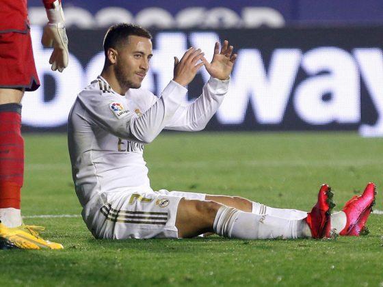 Foto: Eden Hazard, del Real Madrid, lesionado / EFE