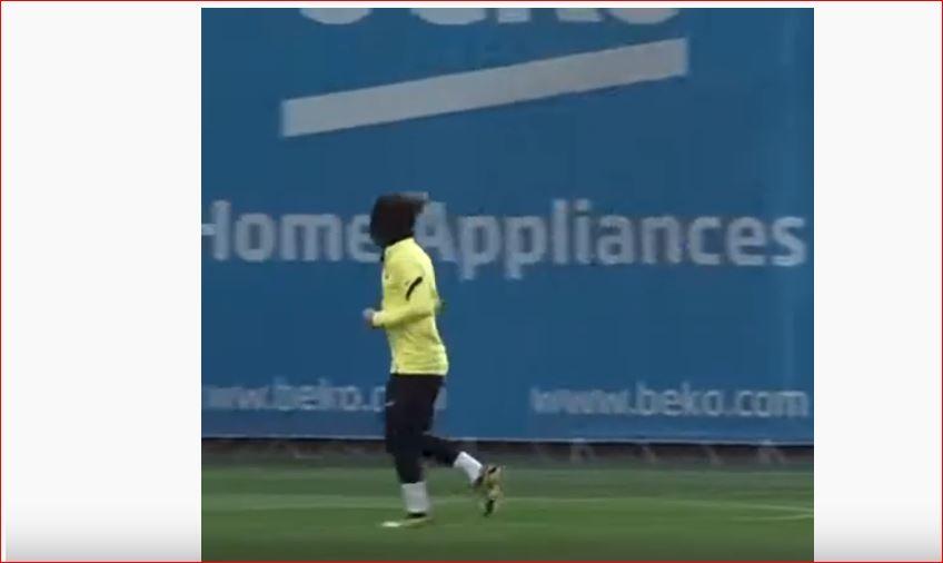 Entrenamiento del FC Barcelona. Foto: YouTube.