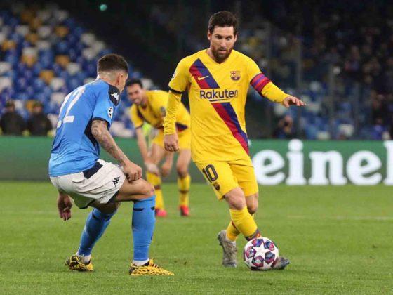Foto: Lionel Messi, del Barcelona contra Napoli / EFE