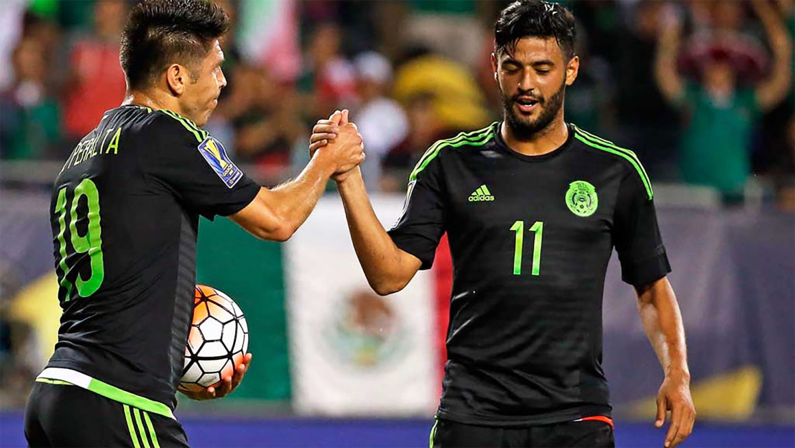 Oribe Peralta y Carlos Vela
