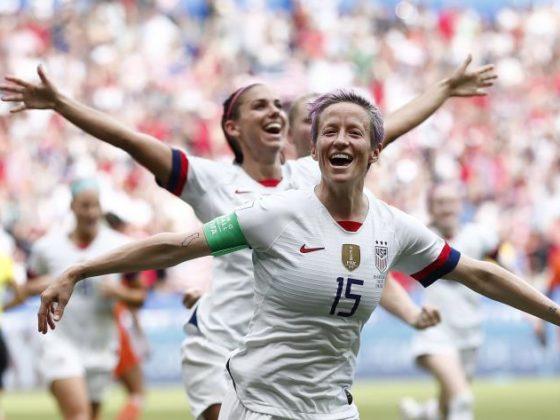 Megan Rapinoe capitana de la seleccion de futbol de Estados Unidos. FOTO: EFE.
