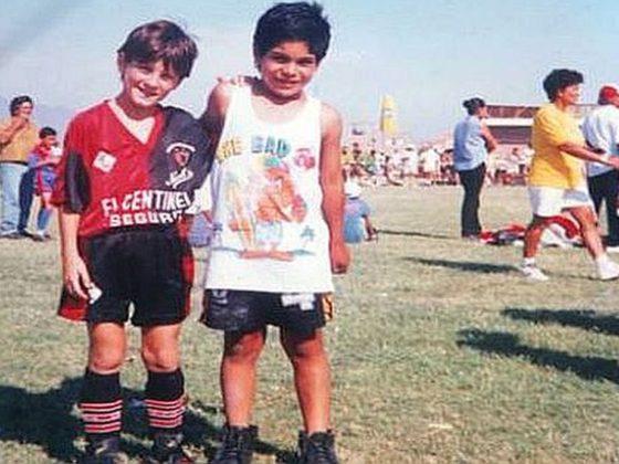 Messi en Newell's Old Boys. Foto: Archivo.
