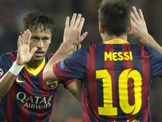 Neymar y Messi cuando jugaban juntos en el FC Barcelona. Foto: EFE.