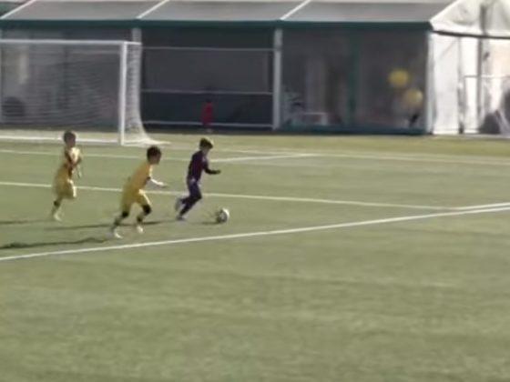 Thiago Messi. Foto: Youtube.