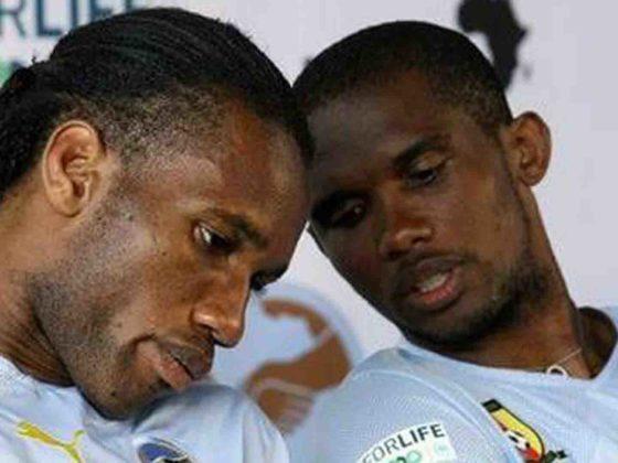 Didier Drogba y Samuel Eto'o