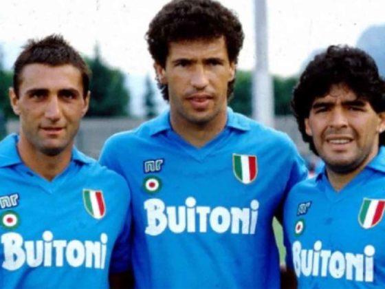 Foto: Diego Maradona, Bruno Giordano y Careca / EFE