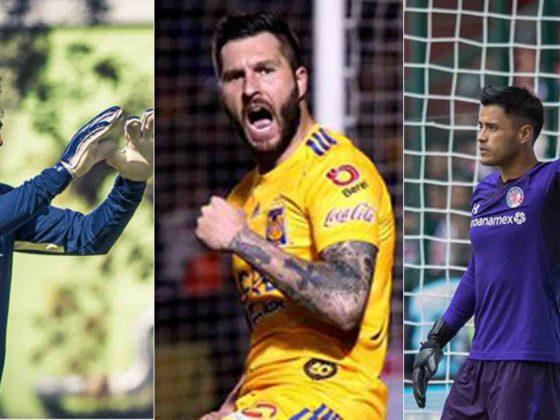 Guillermo Ochoa, André-Pierre Gignac y Alfredo Talavera
