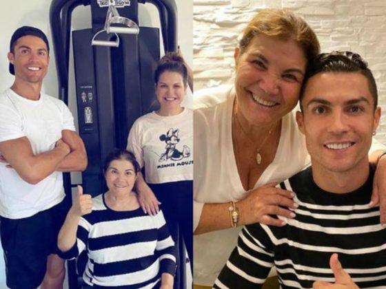 Cristiano Ronaldo y su madre Dolores. Foto: Instagram.