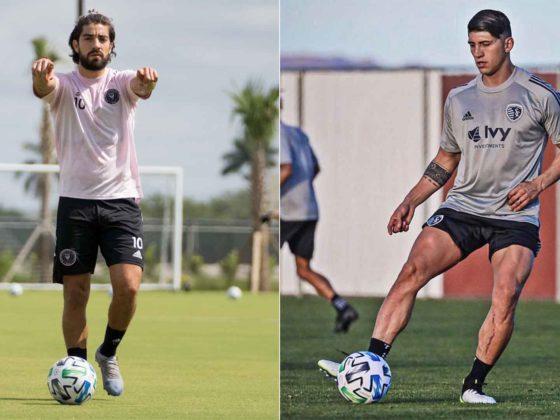Fotos: Rodolfo Pizarro y Alan Pulido / Inter Miami y SKC Facebook oficiales