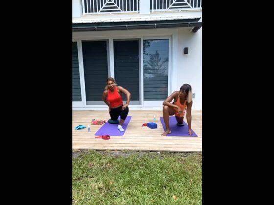 Serena y Venus Williams realizan un entrenamiento durante la cuarentena. Foto: Instagram.