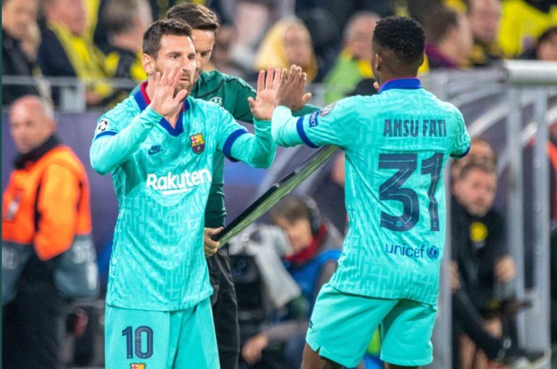 Ansu Fati, Messi