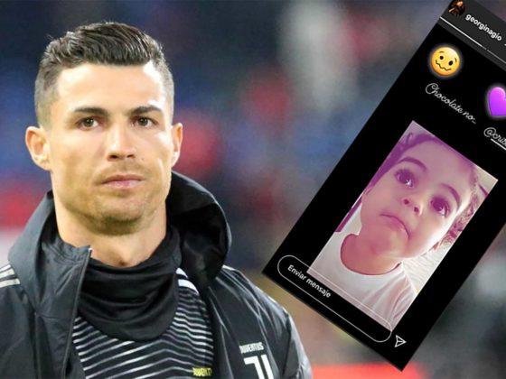 Cristiano Ronaldo e hija