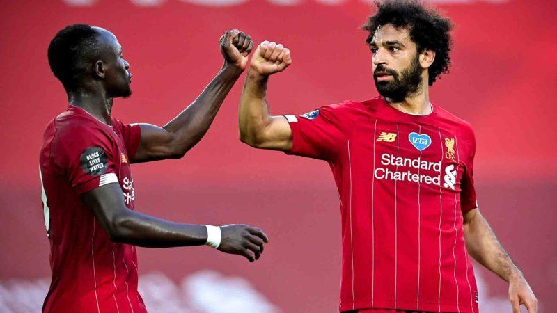 Foto: Mohamed Salah y Sadio Mané, del Liverpool / EFE