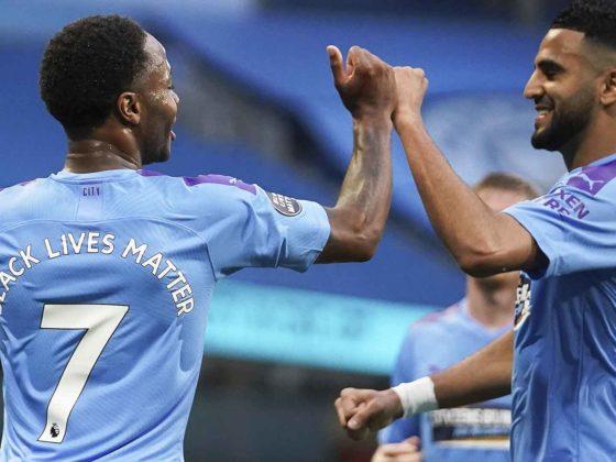 Foto: Raheem Sterling y Riyad Mahrez, del Manchester City / EFE