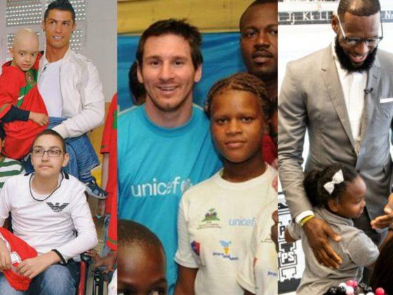 Cristiano Ronaldo, Lionel Messi, LeBron James