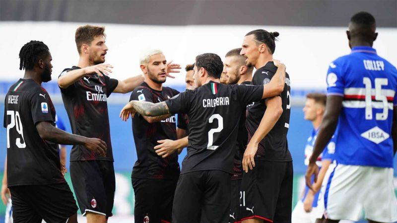 Foto: AC Milan en festejo / Twitter Oficial
